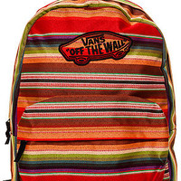 Vans Backpack Realm in Multi Stripe Red