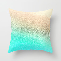 *** GATSBY AQUA GOLD **  Throw Pillow by Monika Strigel *** Decorate your home with spring colors !