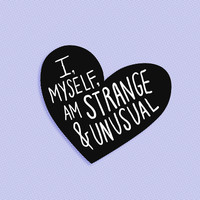 I, myself, am strange and unusual brooch