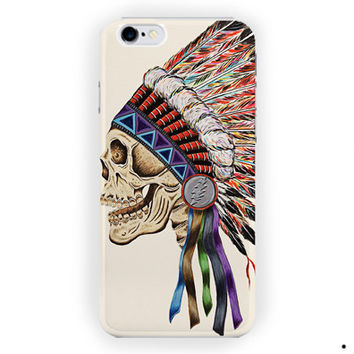Death Skeleton Side Head Sugar Skull For iPhone 6 / 6 Plus Case