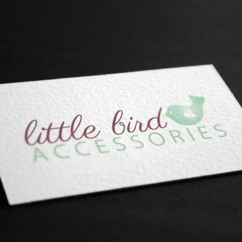 Pre-Made Little Bird Heart Accessories Outdoor Nature Photography Jewelry Any Business Shop Logo