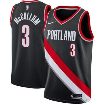 Men's Portland Trail Blazers C.J. McCollum Nike Black Swingman Jersey - Icon Edition