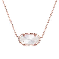 Elisa Rose Gold Pendant Necklace in Ivory Pearl - Kendra Scott Jewelry