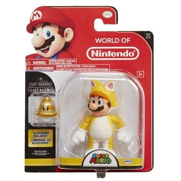 "CAT MARIO World Of Nintendo 4.5"" Figure Super Mario"