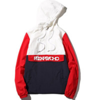 Autumn and winter new outdoor letters printed wind Hooded Hooded Jacket large size couple men and women jackets