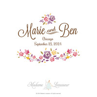 Premade Wedding Monogram | Wedding Logo | Wedding Crest (Wedding design made easy - Photoshop template)