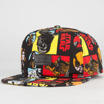 Vans Star Wars Comic Mens Strapback Hat Black One Size For Men 23848510001