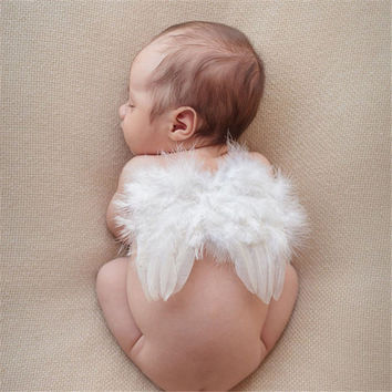 Lovely Newborn Photography Props Baby Boys Girls Angel Wings Set Feather Butterfly Wings Girls Hair Accessories