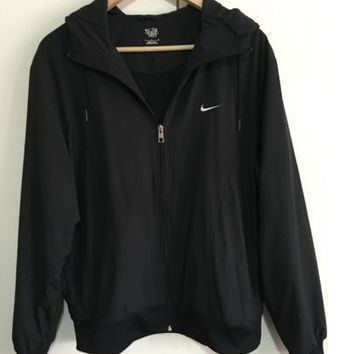 NIKE Women Hooded Sweatshirt Cardigan Jacket Coat Windbreaker