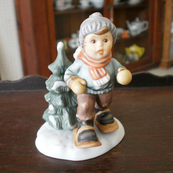 "Berta Hummel Figurine ""Dashing Through The Snow"""