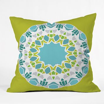 Karen Harris Mod Medallion Green Throw Pillow