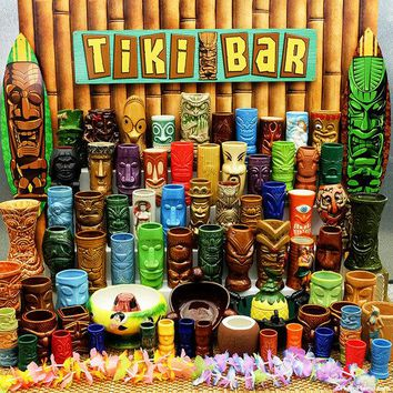 Ceramic Tiki Mugs for Home Bar and Decor (Collection 2)