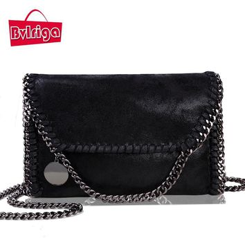 BVLRIGA Women bag collapsible small chain handbag famous designer brand bags vintage women leather handbags women messenger bags