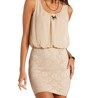 Lace Body-Con 2-Fer Dress: Charlotte Russe