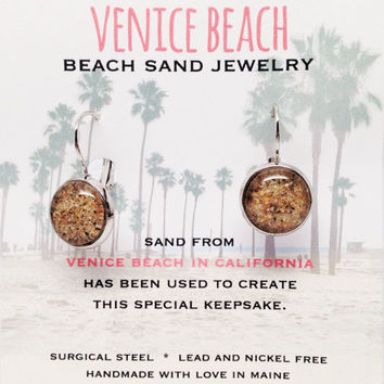 Venice Beach Sand Jewelry, California Sand Jewelry, Beach Sand Jewelry, Sand Jewelry, Nautical, Summer, One of a Kind Gift, Made in Maine
