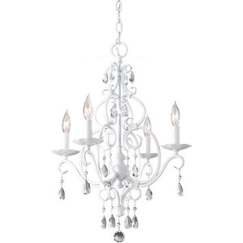 Murray Feiss Chateau Blanc 4 Light White Mini Chandelier - F1904/4SGW