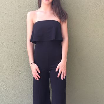 Wanna Be Yours Jumpsuit- Black