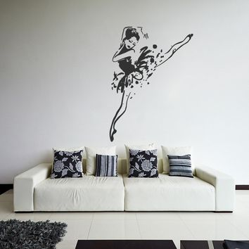 ik1299 Wall Decal Sticker Ballet dancer dancing pointe bedroom children