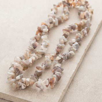 Botswana Agate Gemstone Nugget Necklace