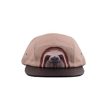 SlothBacca Sloth Face 5 panel hat