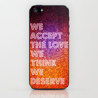 The Love We Deserve Revisited iPhone & iPod Skin by Caleb Troy | Society6