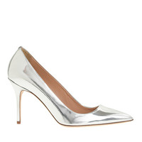 J.Crew Womens Elsie Metallic Leather Pumps
