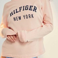 Tommy Hilfiger Pale Blush Track Sweatshirt - Urban Outfitters