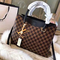 LV High Quality Popular Women Leather Handbag Tote Shoulder Bag Crossbody Satchel Black