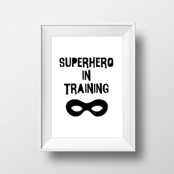 SuperHero Modern Stylish print, Nursery Art, Kids Room Decor, Poster, Digital, Instant Download, Typography, Minimalist, Marvel, Comic