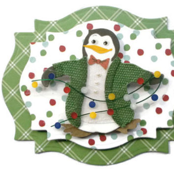 Winter Penguin, 3D Scrapbook Embellishment, Paper piecing, gift tags, Scrapbooking Layouts, Cards, Mini Albums, brag book, Crafts, journal