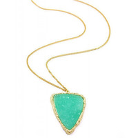 Pree Brulee - Mint Druzy Pendant Necklace