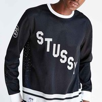 Stussy Mesh Long-Sleeve Tee- Black