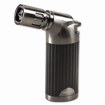 Vertigo Champ Black Matte And Gunmetal  Quad Flame Table Torch Lighter