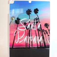 Santa Barbara Palm Trees Tablet Case