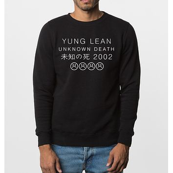 hot sale 2017 new fall winter fashion men sweatshirts YUNG LEAN Unknown Death Sad Boys hoodies hip hop style brand clothing