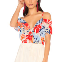 ASTR Clementine Top in Hibiscus Multi Floral