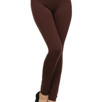 Brown Nylon Leggings
