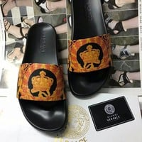 Versace Men Women Casual Shoes Boots  fashionable casual leather Women Heels Sandal Shoes