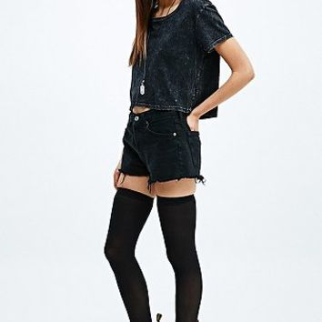 60 Denier Thigh High Socks in Black - Urban Outfitters