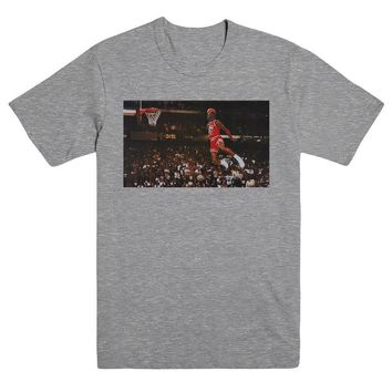 Michael Jordan Iconic Dunk Chicago Bulls NBA T Shirt