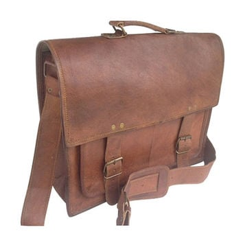 DISTRESSED LEATHER SATCHEL