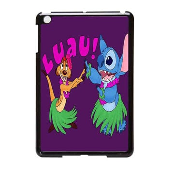 Luau Timon Silhouette And Stitch  Disney iPad Mini Case