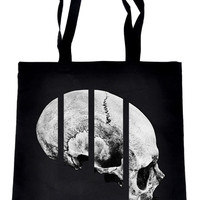 Medical Oddities Human Skull Tote Book Bag Occult Clothing Handbag