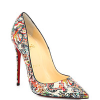 Christian Louboutin So Kate Artistic-Print Python Pumps