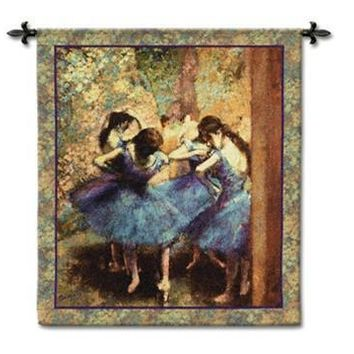 Degas Dancers in Blue Woven Cotton Tapestry