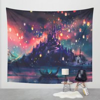 The Lights Wall Tapestry by Alice X. Zhang   Society6