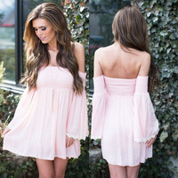 Summer Chiffon One Piece Dress [9688308111]