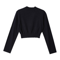Cropped Fitted Hem Pullover (Navy) | STYLENANDA