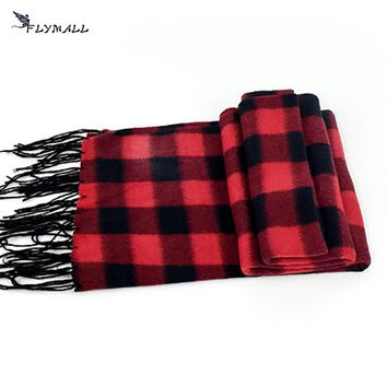 2017 Male Female Winter Scarf Fashion Plaid Scarf for Men Imitation Cashmere Scarves Warm Tassel Infinity Scarves Pashmina Shawl
