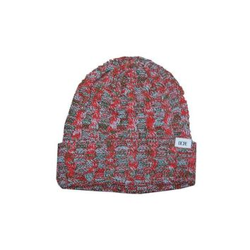 ONETOW DOPE Woven Knit Beanie In Red